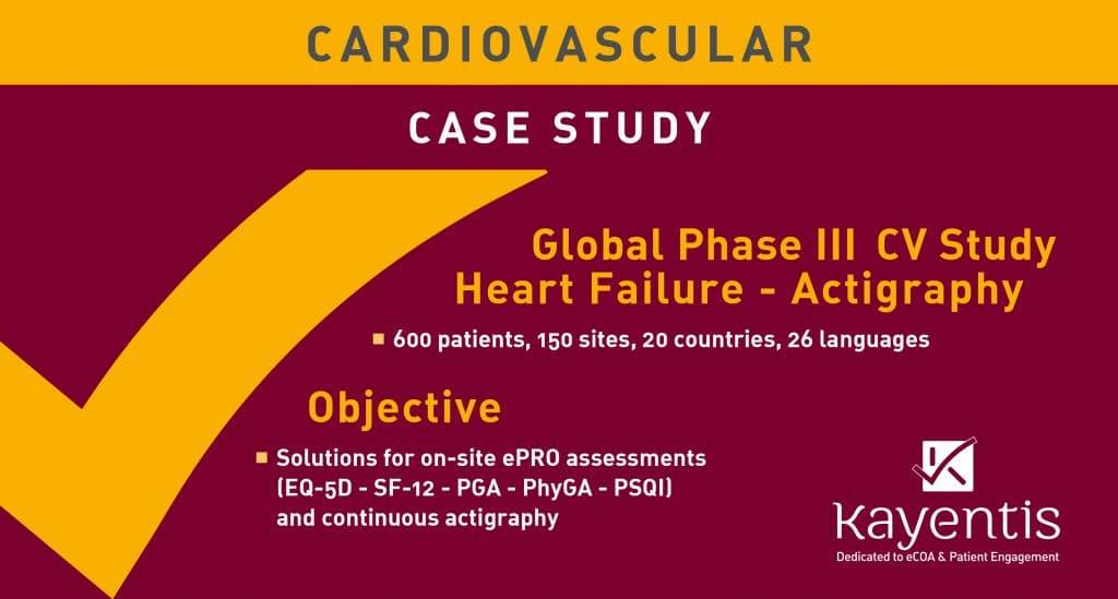 Kayentis ePRO cardiovascular case study