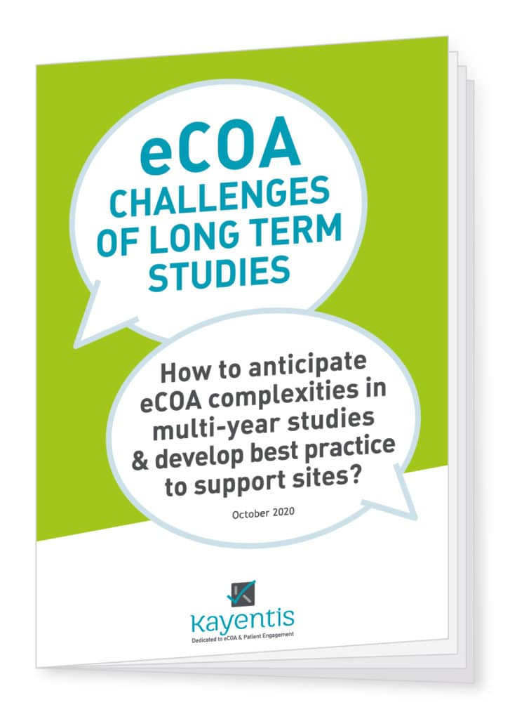 Cover kayentis white paper on eCOA challenges of long term studies